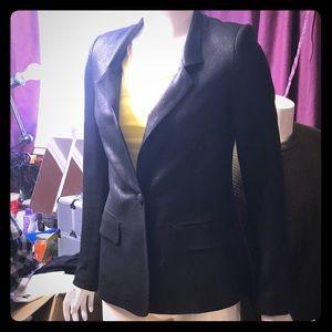 L'Agence metallic black blazer